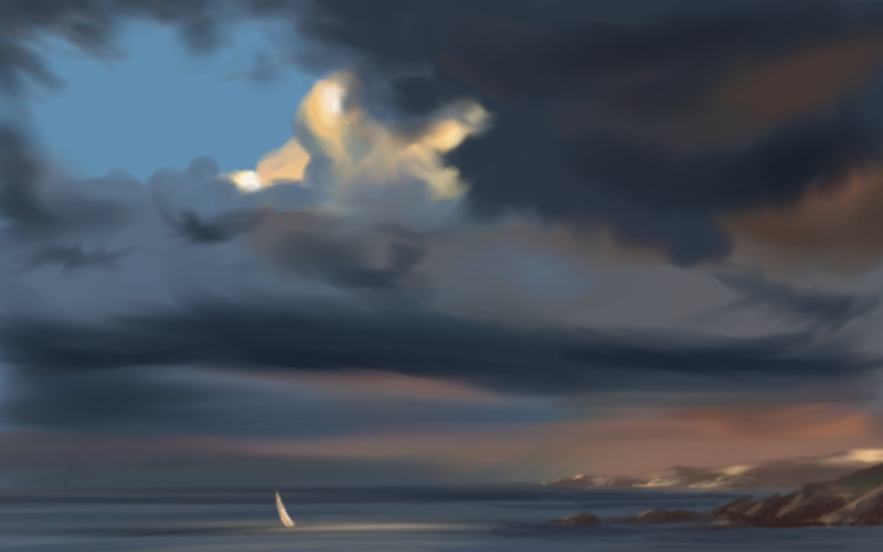 """peinture numérique : """"Alone"""""""