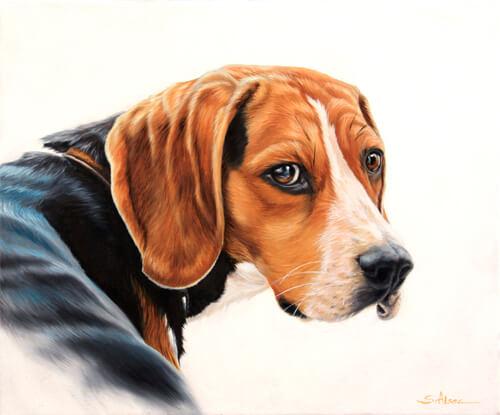 dog painting : beagle