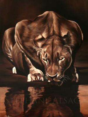 Mimba-peinture-lionne