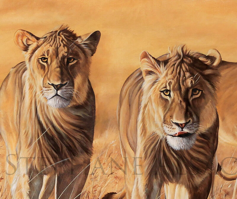 The-Wild-Bunch-painting-lions-hunting-detail