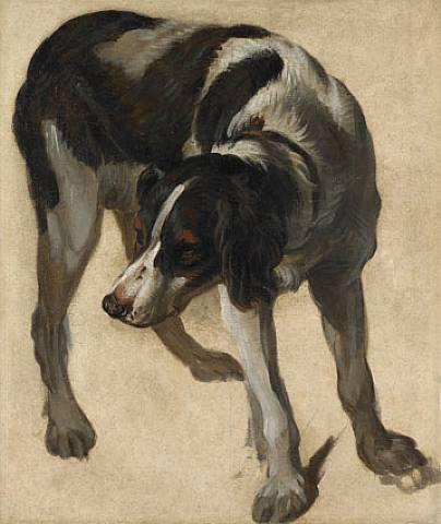 peinture de chien Desportes