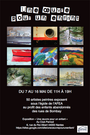 affiche expo peinture AFEA 2011