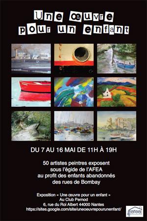 affiche expo peinture AFEA 2011