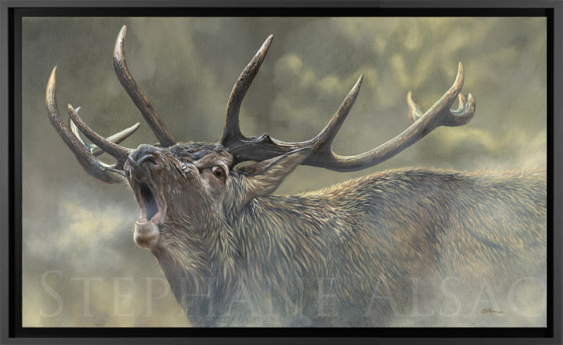 realistic oil painting of a deer