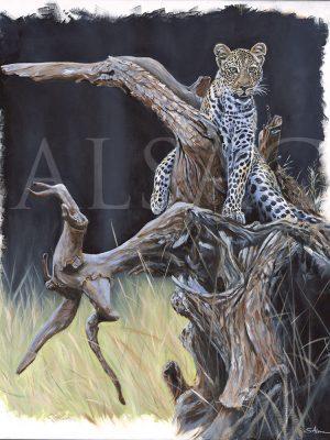 painting-leopard-kenya-