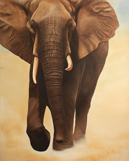 peinture éléphant
