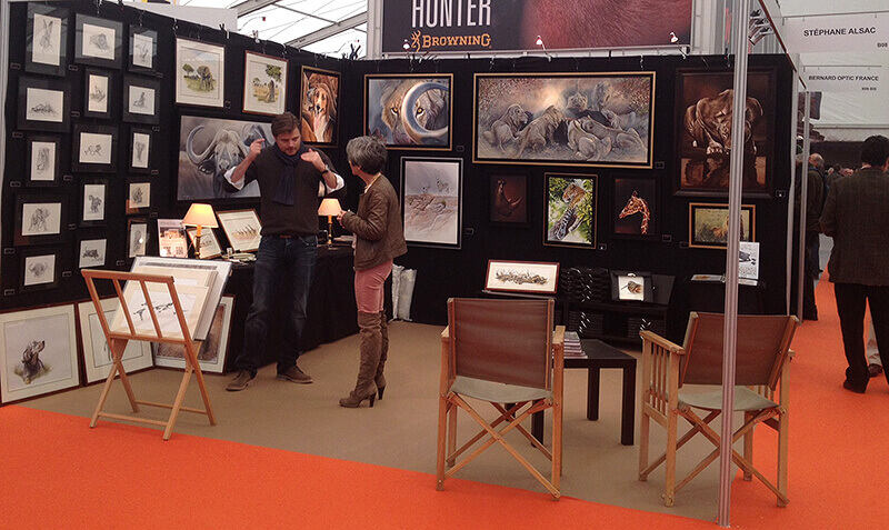 Salon chasse rambouillet peintre animalier st phane alsac for Salon rambouillet