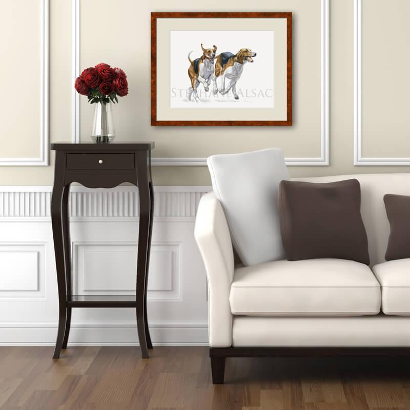 foxhound watercolor