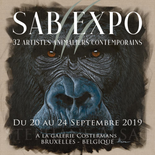 Affiche - SAB-Expo- Stephane-Alsac - artistes-animaliers