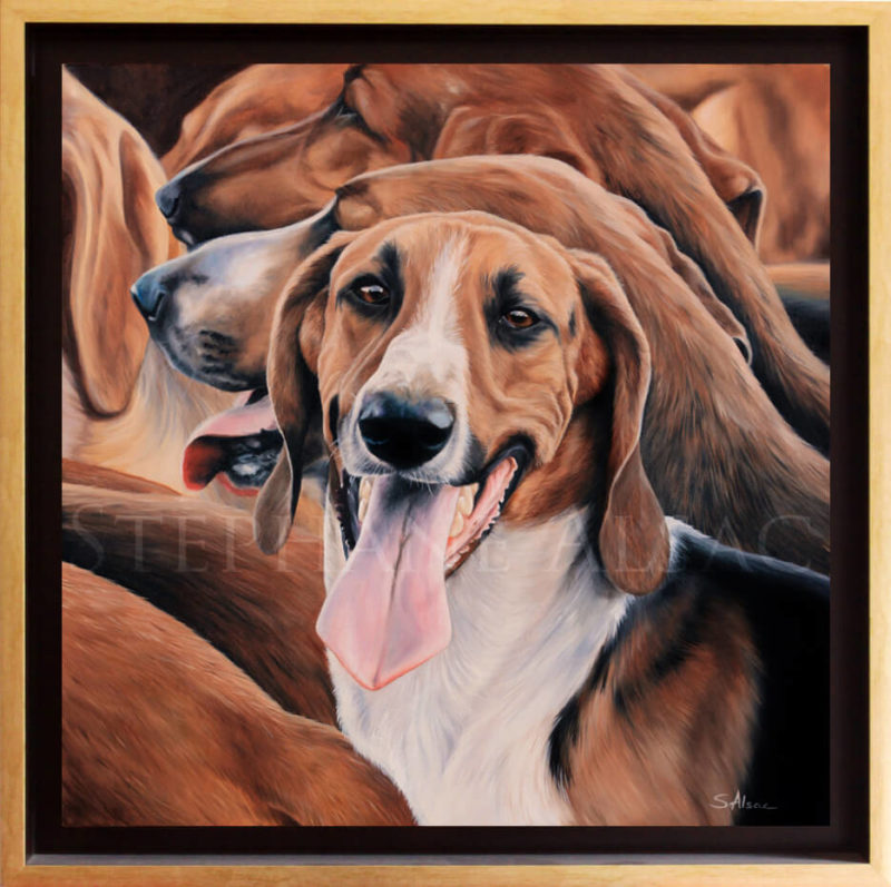 foxhound hyper realist painting