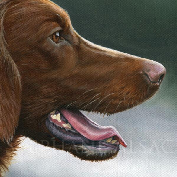peinture realiste de chien