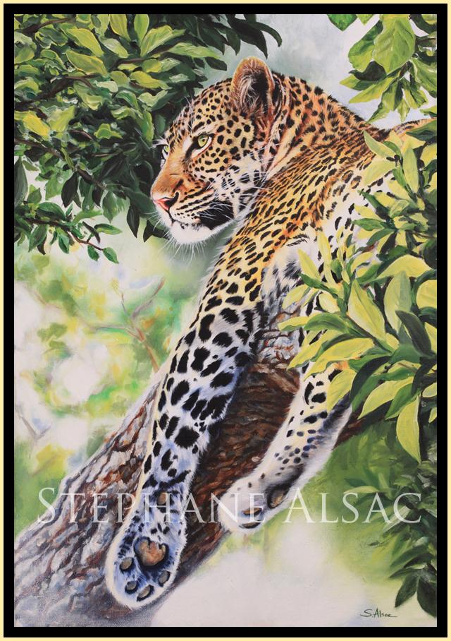 Peinture leopard