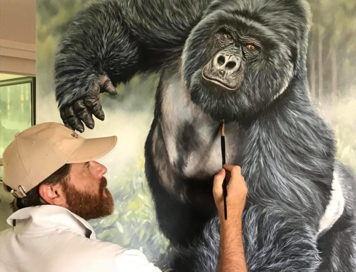 Mon gorille silverback pratiquement fini. Reste quelques petits détails sur