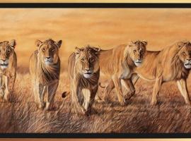 The-Wild-Bunch-peinture-lions-cadre