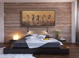 The-Wild-Bunch-peinture-lions-cadre-deco-chambre