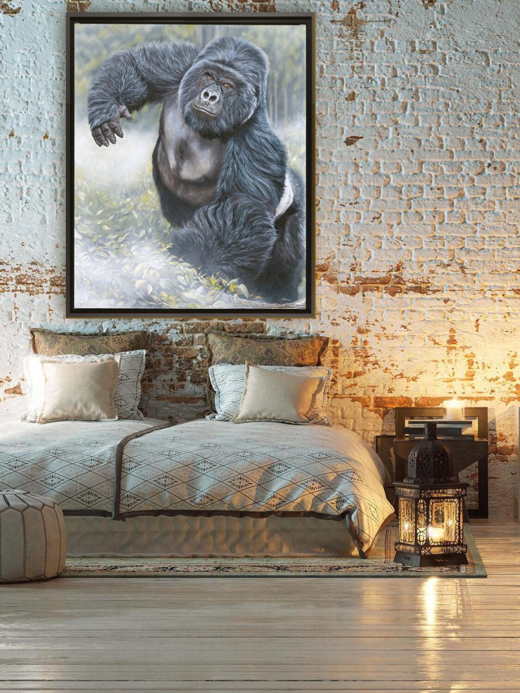 deco-tableau-gorille-chambre - Stéphane Alsac
