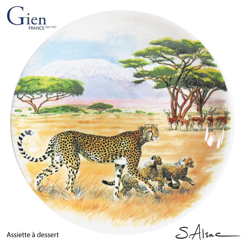 hunting-lessons-gien-assiette-dessert-safari