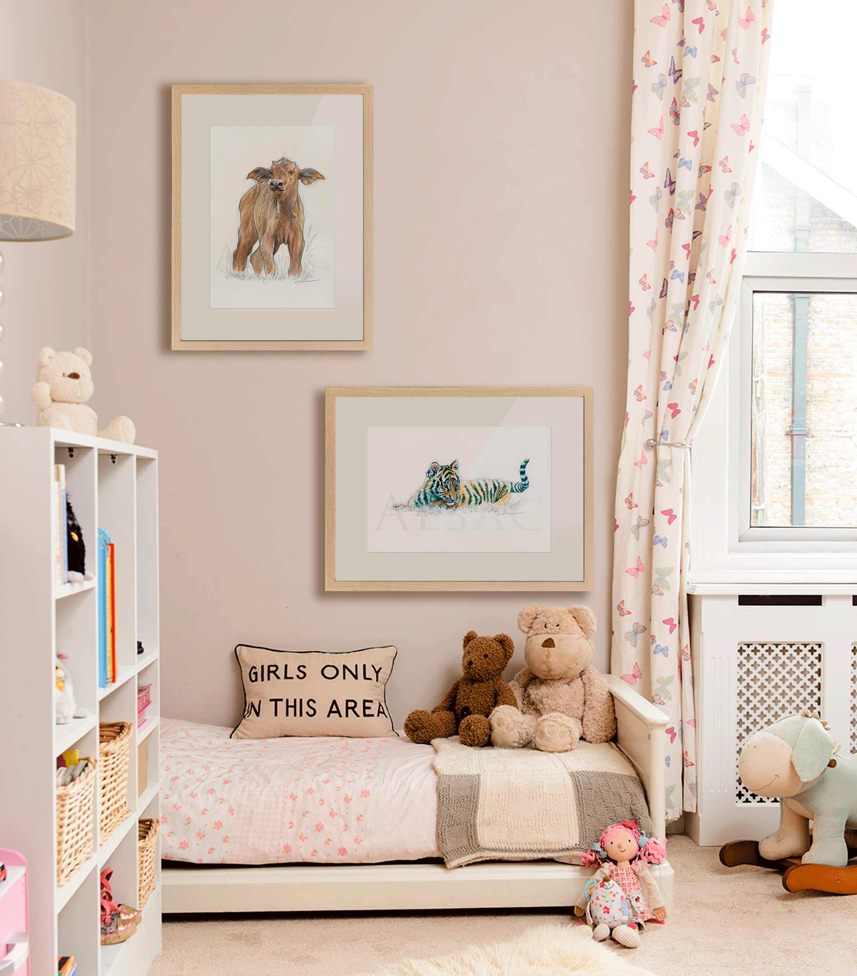 idee-decoration-chambre-bebe-tableau-animaux - tigre ...