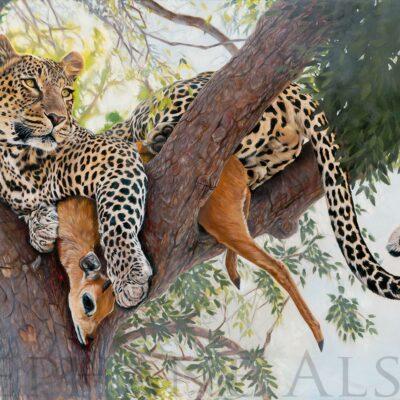 mon-precieux-tableau-peinture-leopard-arbre-proie