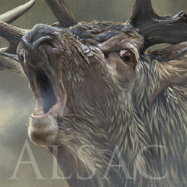 awesome realistic painting of a stag