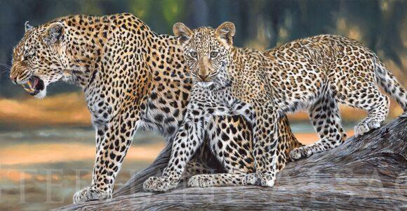 peinture-leopards-arbre-hyper-realiste-grand-tableau-afrique