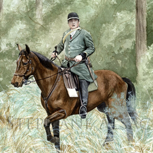 classic hunting scene painting