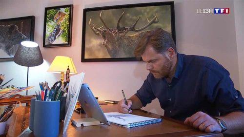 reportage-artiste-peintre-animalier-alsac-brame-TF1