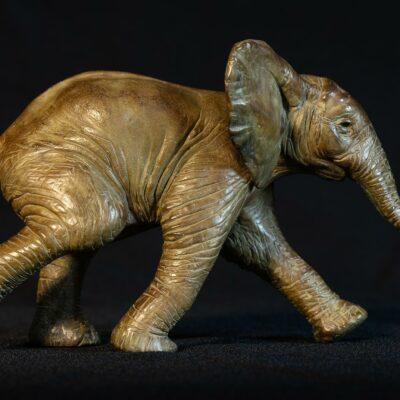 sculpture-animaliere-elephanteau-bronze