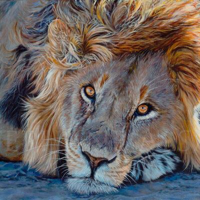tableau-impression-sur-toile-lion-peinture