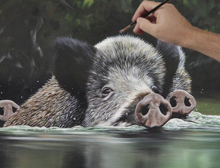 wild-boar-oil-painting-video